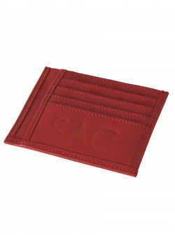 Natural Leather Red Portcard