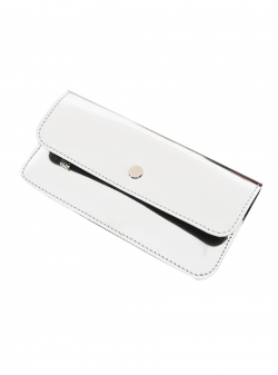 Natural Leather Silver Wallet