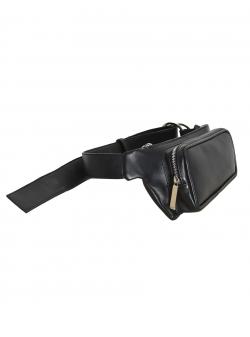 Borseta neagra din piele naturala Sac Bags