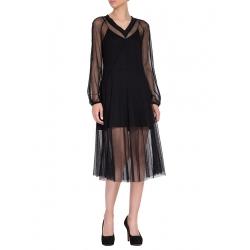 Rochie midi din tulle negru Larisa Dragna