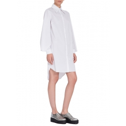 White Shirt Dress With Flared Sleeves