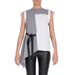 Sleeveless Asymmetric Cotton Top