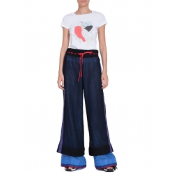 Mesh Flared Trousers