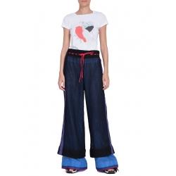 Pantaloni evazati din plasa