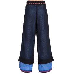 Pantaloni evazati din plasa Edita Lupea