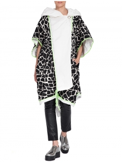 Black and White Printed Trench
