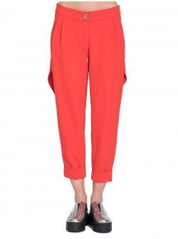 Pantaloni corai cu aplicatii spate