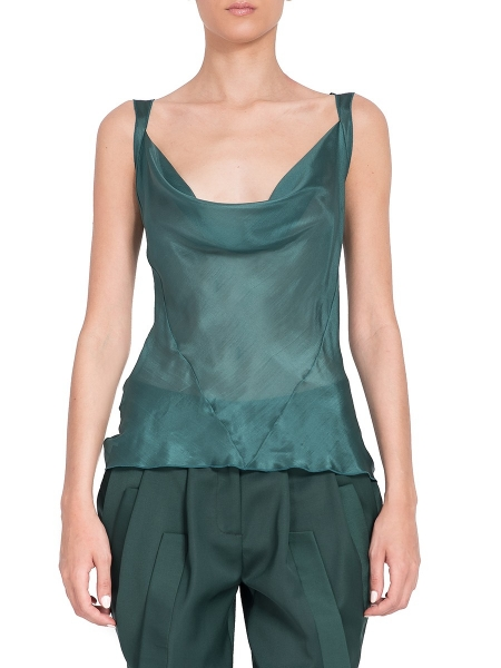 Green Silk Top