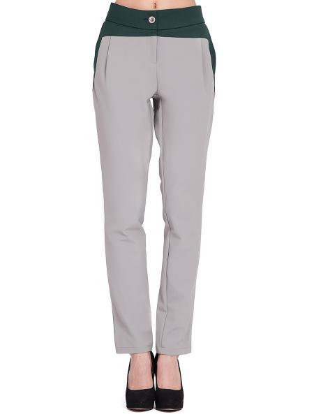 Pantaloni gri cu insertii