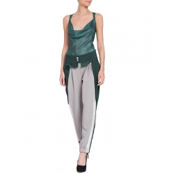 Pantaloni gri cu argintiu