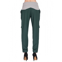Grey Trousers with Silver Piping