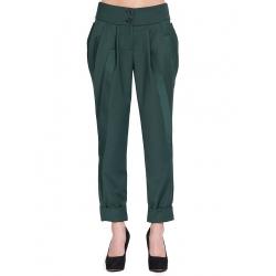 Pantaloni verzi cu detalii laterale