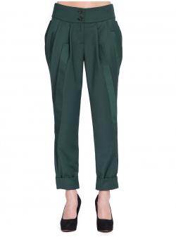 Pantaloni verzi cu detalii laterale Florentina Giol
