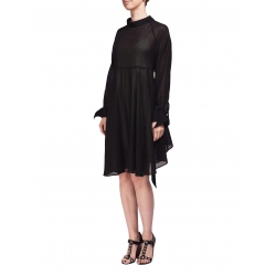 Black Veil Shirt Dress