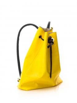 Rucsac galben din piele naturala Sac Bags