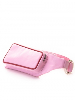 Borseta roz din piele naturala