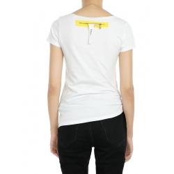 Tricou alb cu print fluturi Larisa Dragna