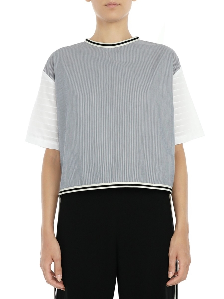 Striped Top With Side Bands