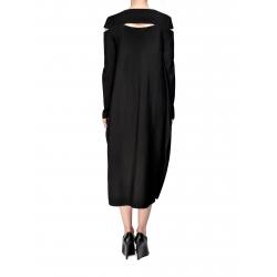 Rochie neagra din viscoza cu maneca lunga Florentina Giol