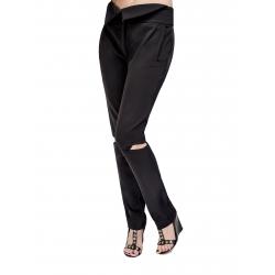 Pantaloni din viscoza cu decupaje Florentina Giol