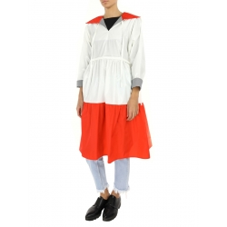 White Raincoat with Frills