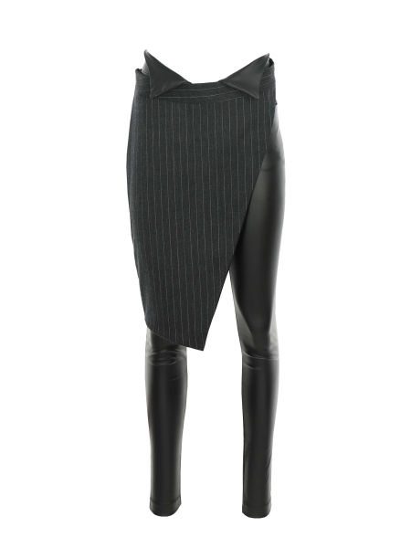 Black Trousers with Detachable Detail