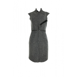 Grey Vest with Zippers