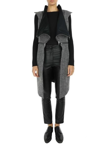 Grey Vest with Zippers