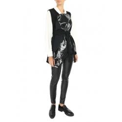 Black Vest with Vinyl Insertion