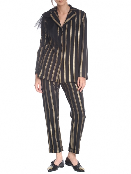 Gold Striped Trousers