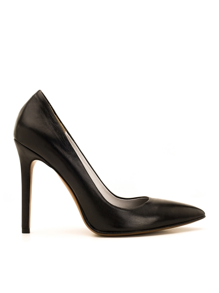 Pantofi stiletto negri Alice Ginissima