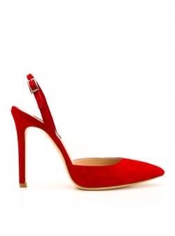 Pantofi stiletto rosii Alice Ginissima