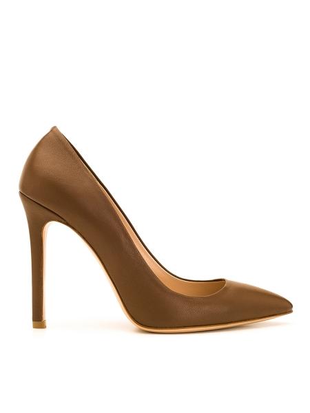 Pantofi stiletto maro Alice