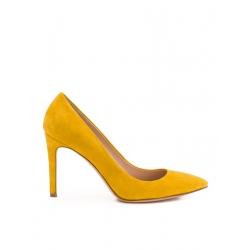Pantofi stiletto galbeni Alice
