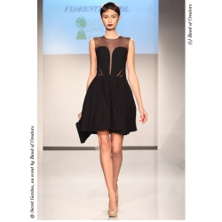 Rochie mini neagra cu detalii din tulle Florentina Giol