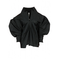Black Shirt with Oversized Sleeves