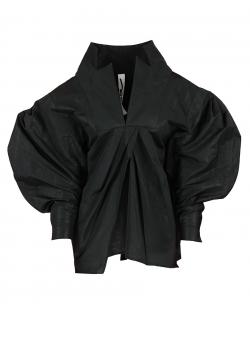 Camasa neagra cu maneci supradimensionate