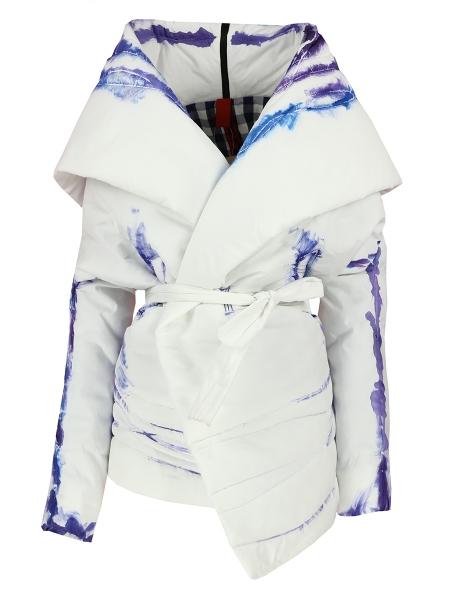 Jacheta alba din fas cu detalii grafice