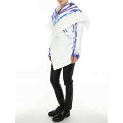 White Jacket with Graphic Details