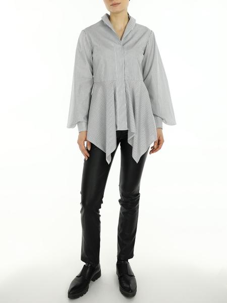 Striped Shirt With Asymmetric Cut