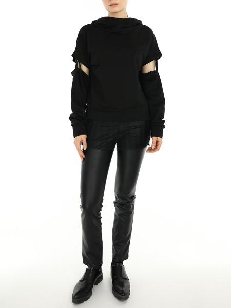 Black Hoodie With Detachable Sleeves