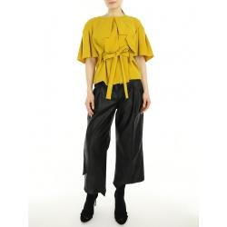 Pantaloni midi din piele ecologica