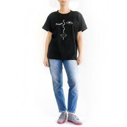 Black Cotton T-Shirt Nova