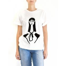 White Cotton T-shirt Yoshiko