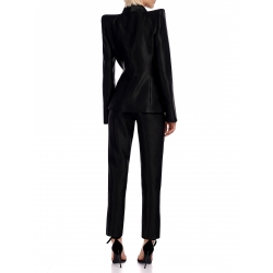 Black Jacket with Structured Shoulders