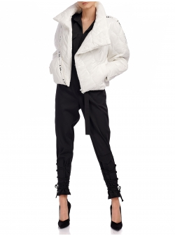 White Jacket With Asymmetric Zipper I Am