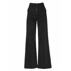 Striped Flared Trousers With Pockets
