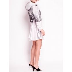 Rochie mini cu gluga si maneca lunga Silverfox