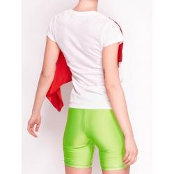 "White Cotton ""Scarf"" T-shirt With Silk Applique"