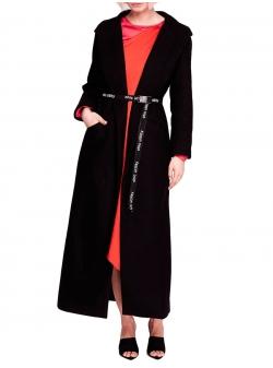 Palton negru cu breatea detasabila Peeky